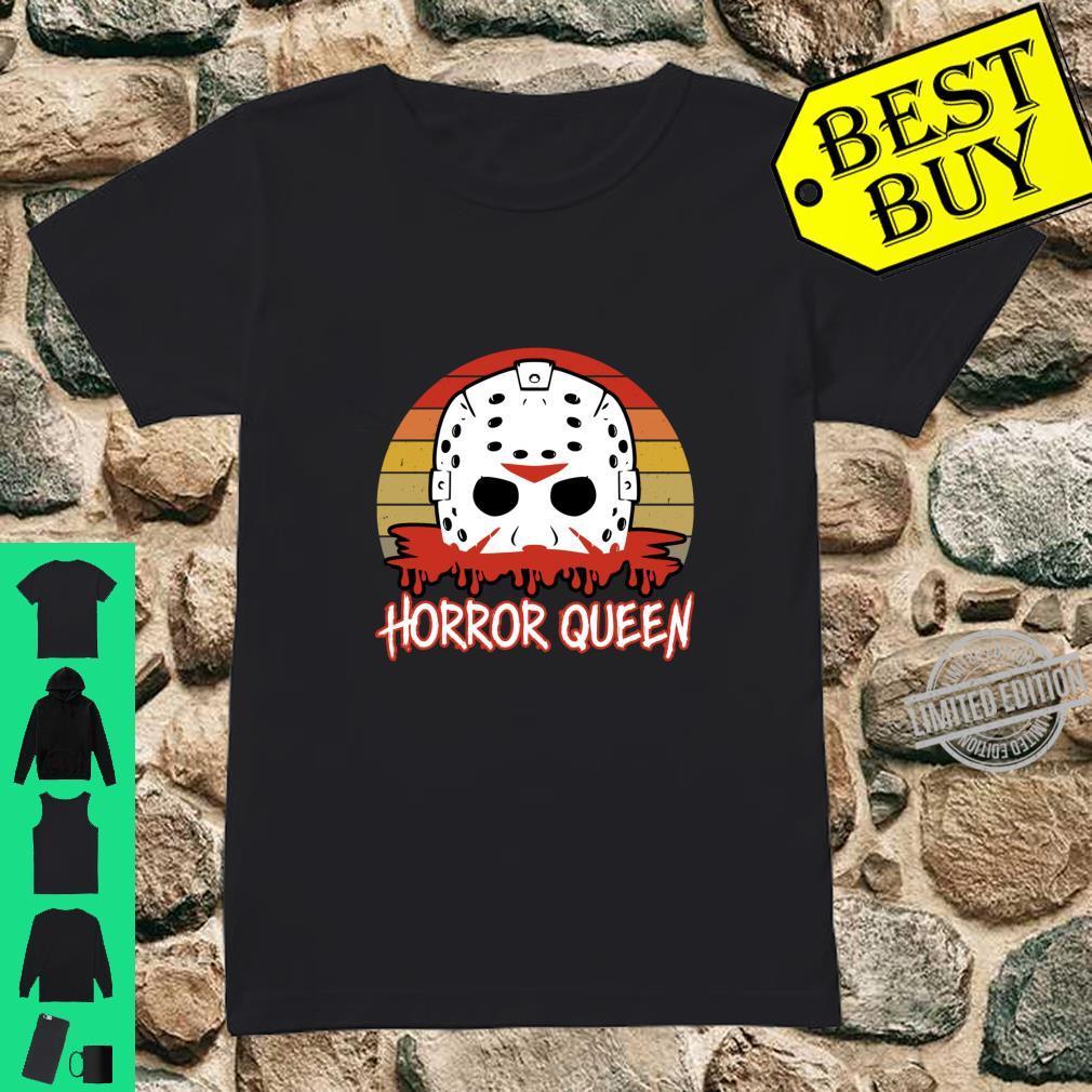 Horror Queen Vintage Horror Fan Halloween Shirt ladies tee