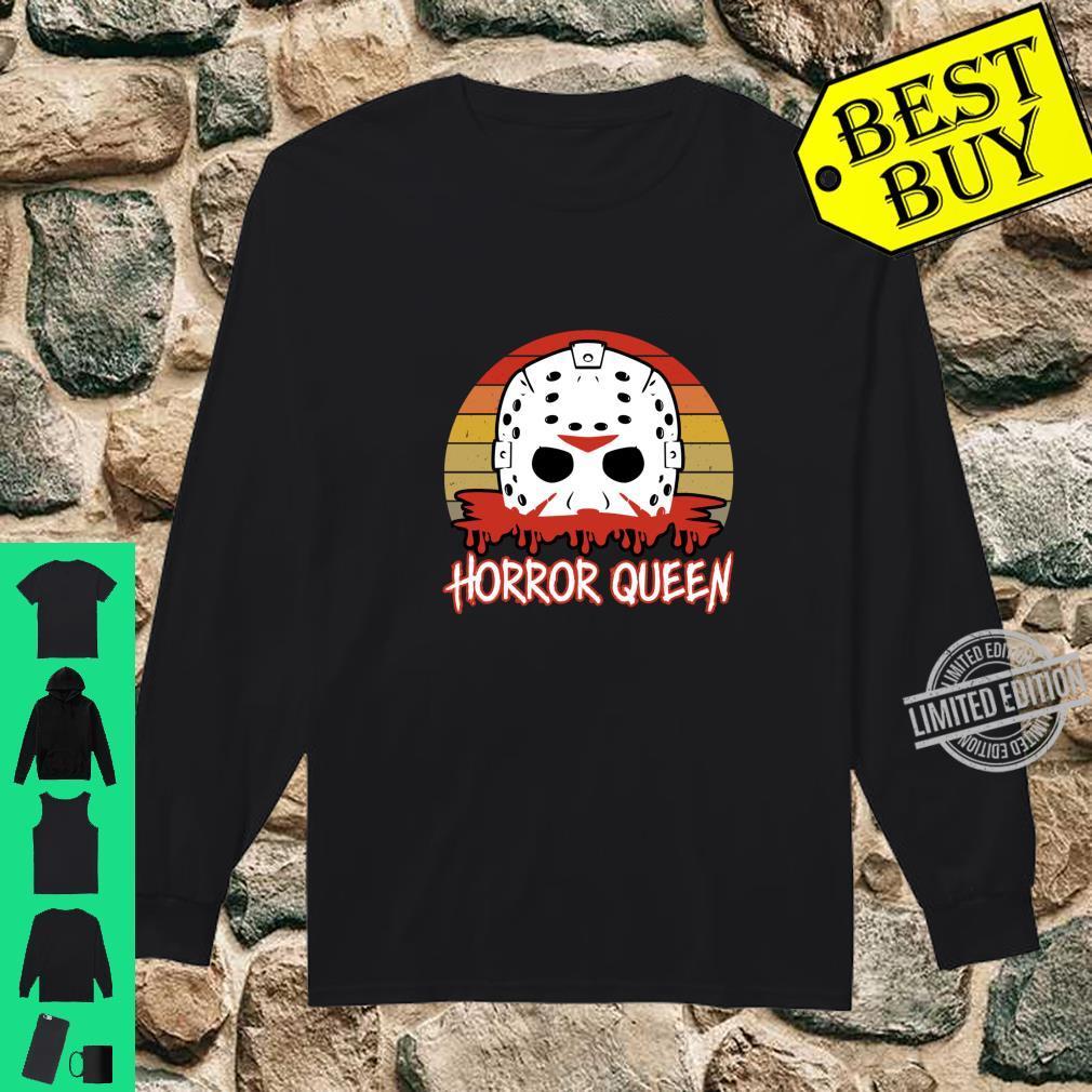 Horror Queen Vintage Horror Fan Halloween Shirt long sleeved