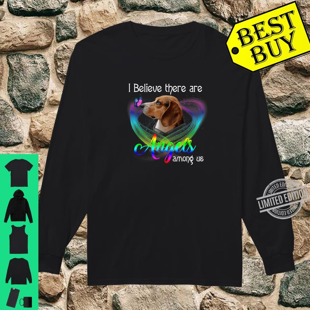 I Believe There Are Angels Among Us Beagles Shirt long sleeved
