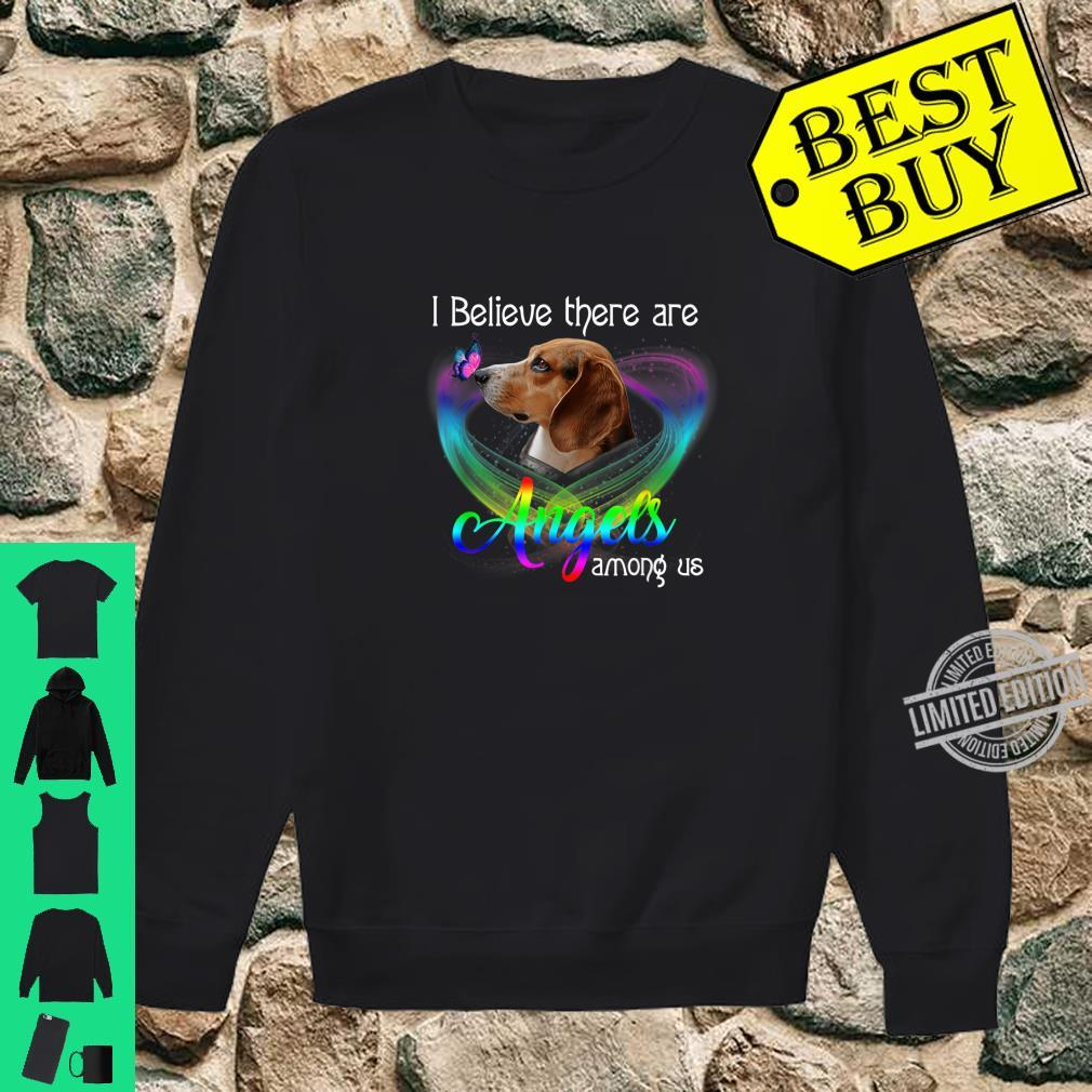 I Believe There Are Angels Among Us Beagles Shirt sweater