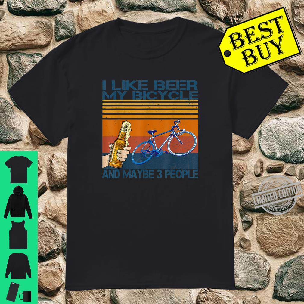 I Like Beer And My Bicycle And Maybe 3 People Retro Vintage Shirt