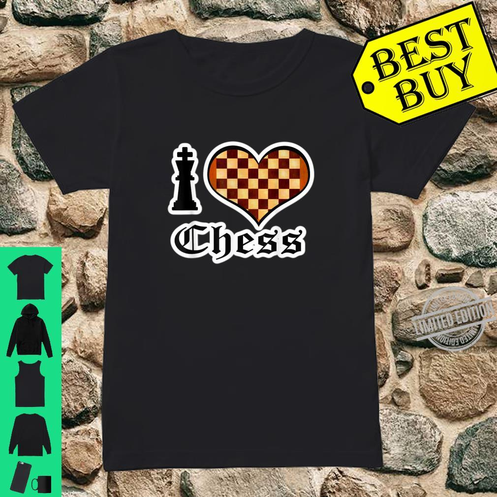 I Love Chess Board Games Shirt ladies tee