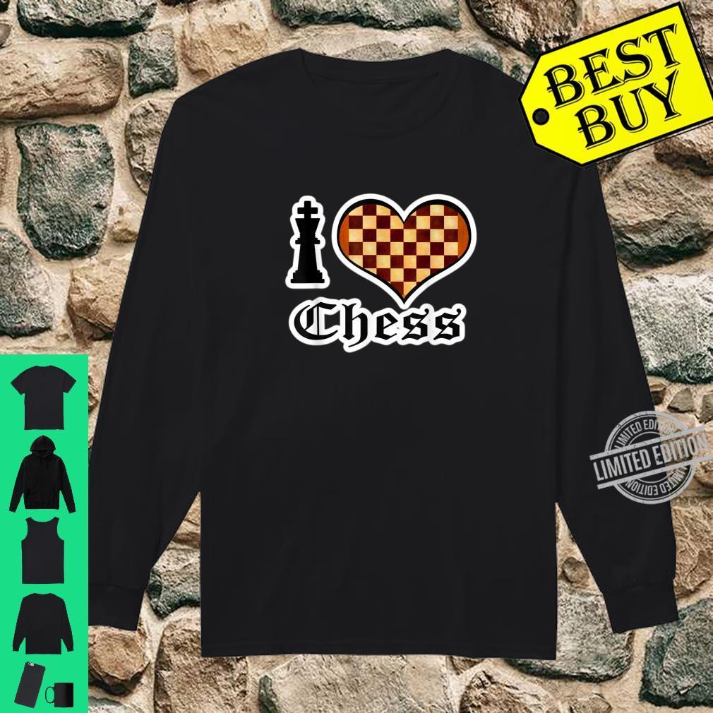 I Love Chess Board Games Shirt long sleeved
