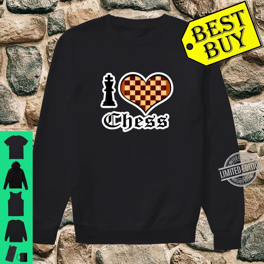 I Love Chess Board Games Shirt sweater