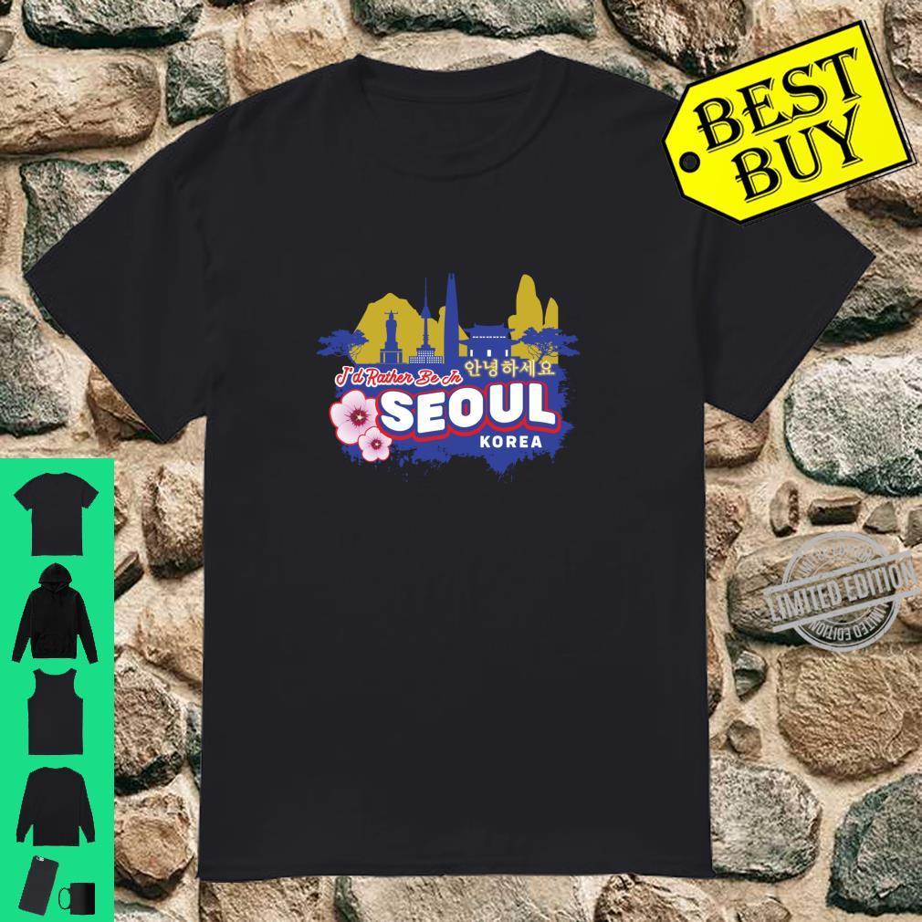Ich wäre lieber in Seoul Korea Vintage Souvenir Langarmshirt Shirt