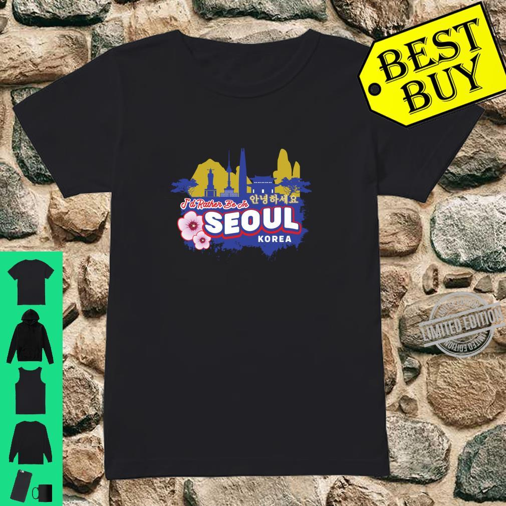 Ich wäre lieber in Seoul Korea Vintage Souvenir Langarmshirt Shirt ladies tee