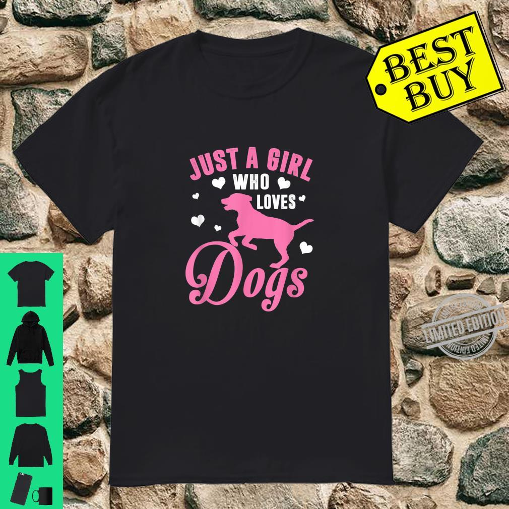 Just A Girl Who Loves Dogs Dog Owner & Shirt