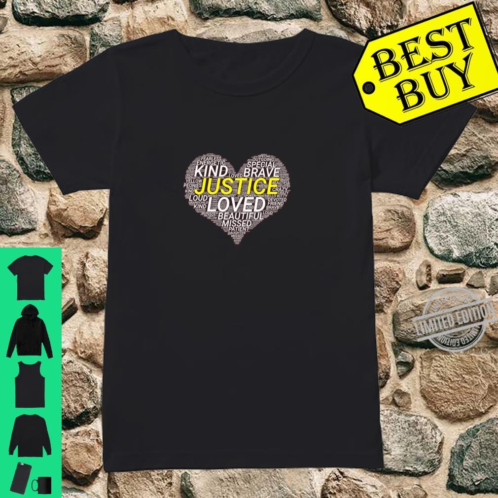 Justice Vosters Heart Memorial #JusticeForJustice Shirt ladies tee