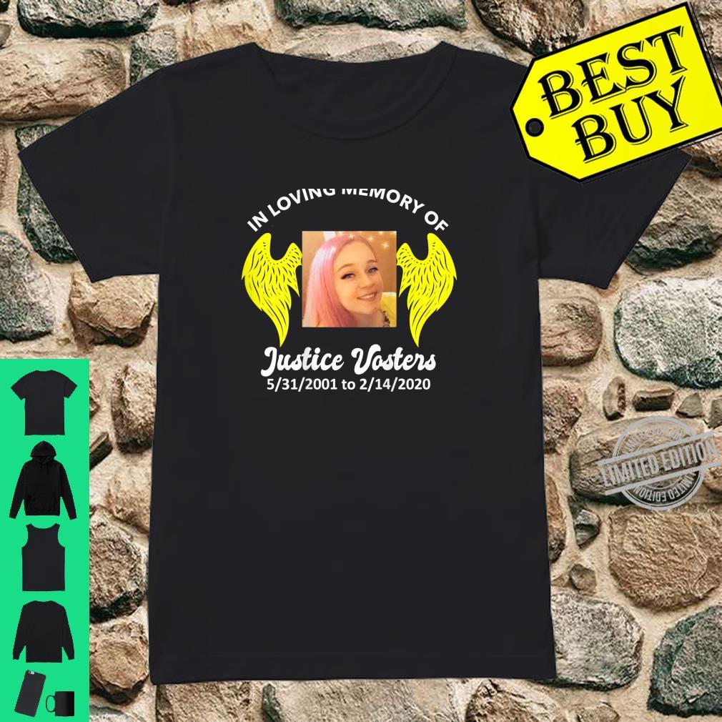 Justice Vosters In Loving Memory Color Shirt ladies tee