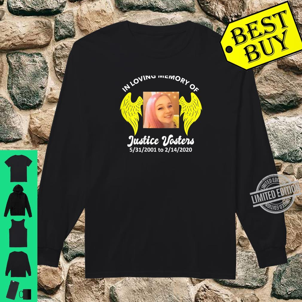 Justice Vosters In Loving Memory Color Shirt long sleeved
