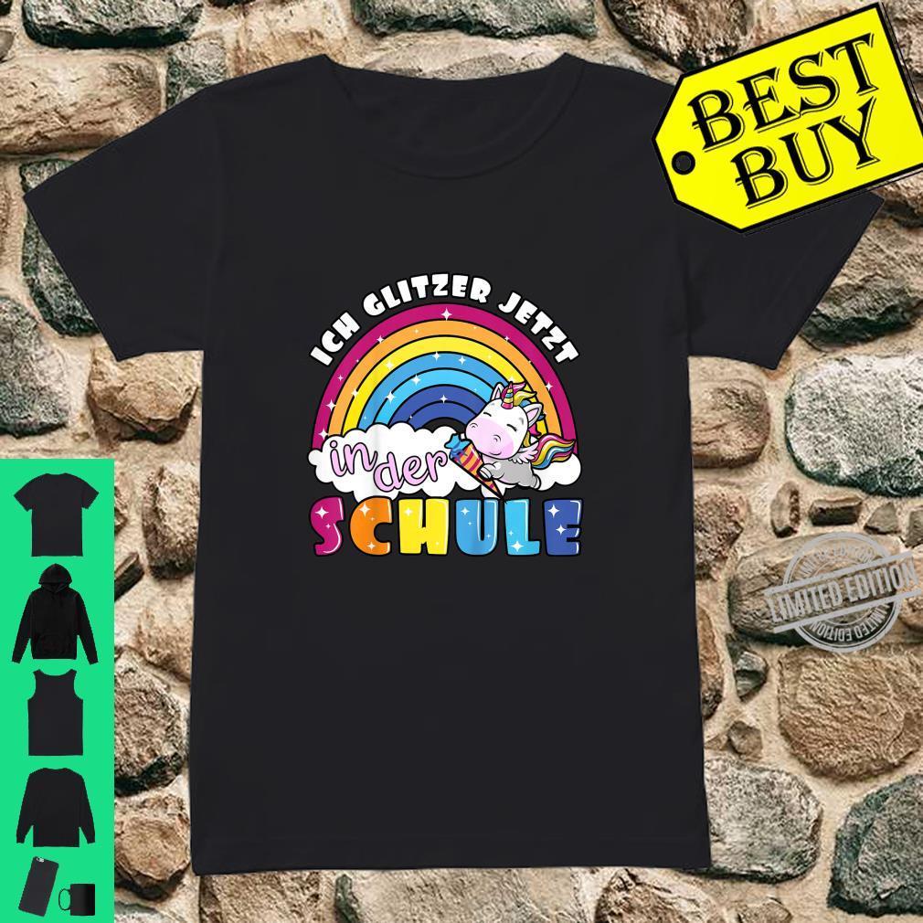 Kinder Einschulung erste Klasse Einhorn Regenbogen zum Schulanfang Shirt ladies tee