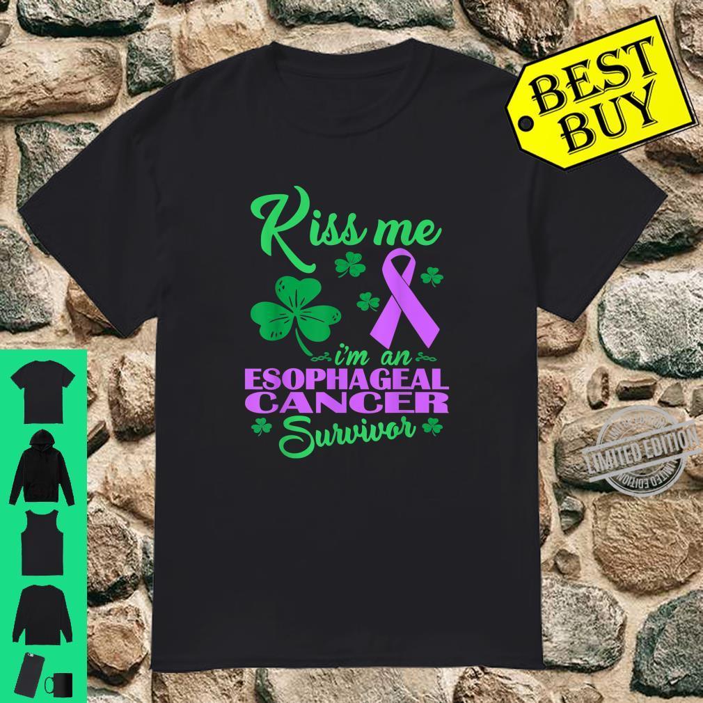 Kiss Me Im Esophageal Cancer Survivor St Patrick Day Shirt