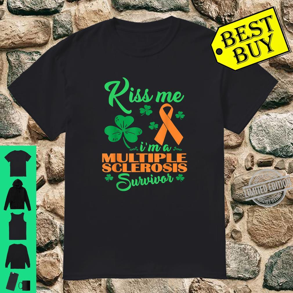 Kiss Me Im Multiple Sclerosis Survivor St Patrick Day Shirt