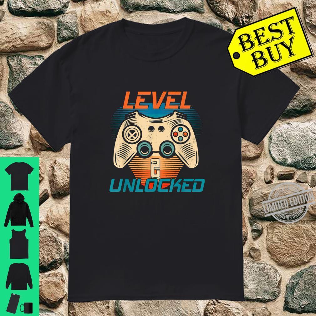 Level 2 Unlocked Video Game 2nd Birthday Gamer Boys Shirt