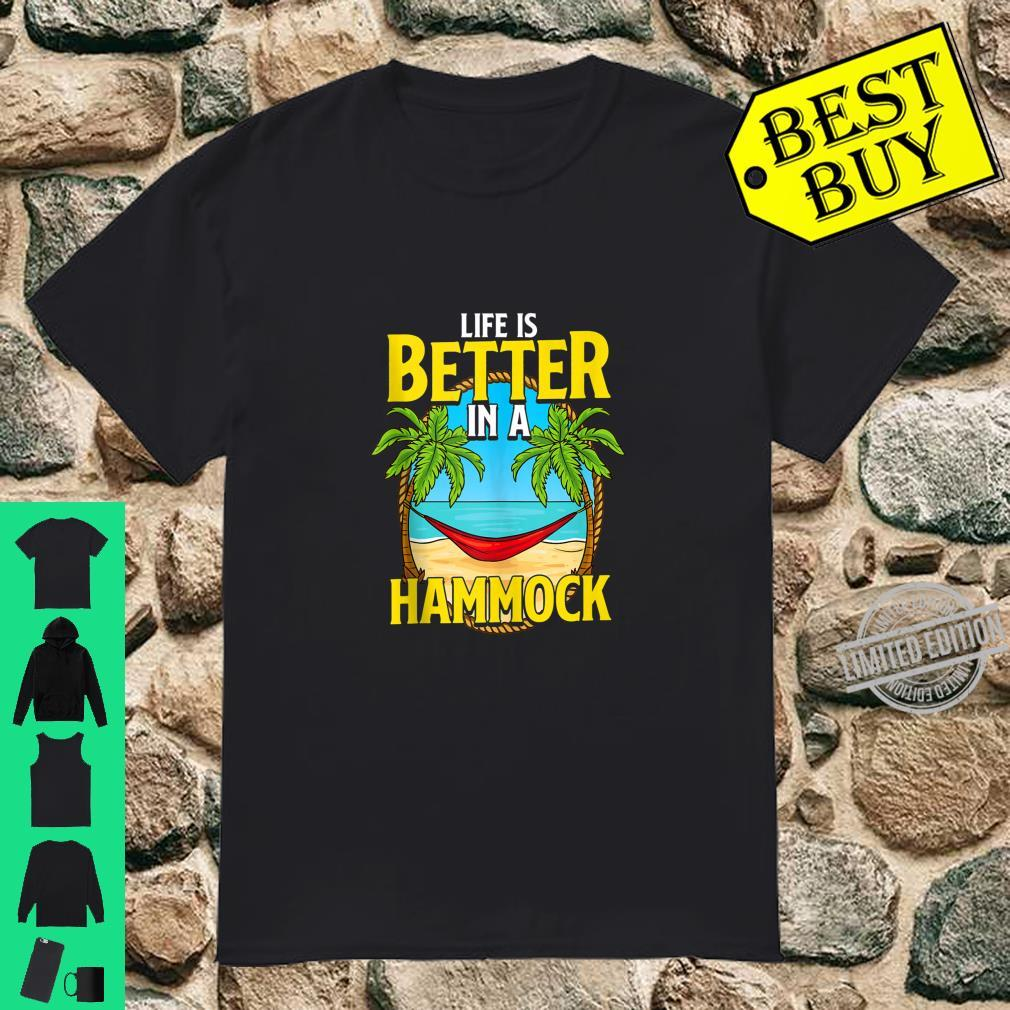 Life Is Better In A Hammock Retired Vacation Retirement Shirt
