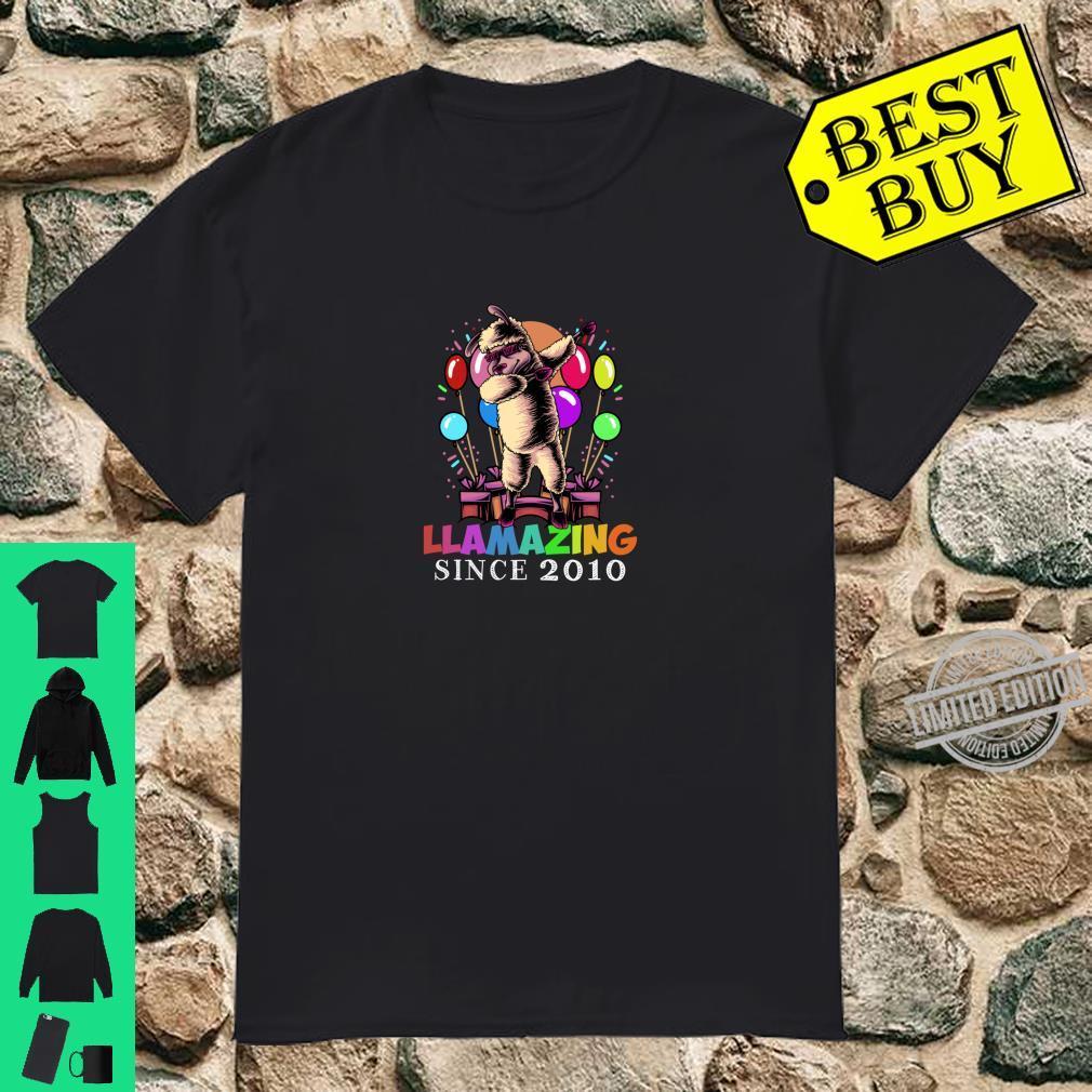Llamazing Since 2010 Birthday Girl Boy Shirt