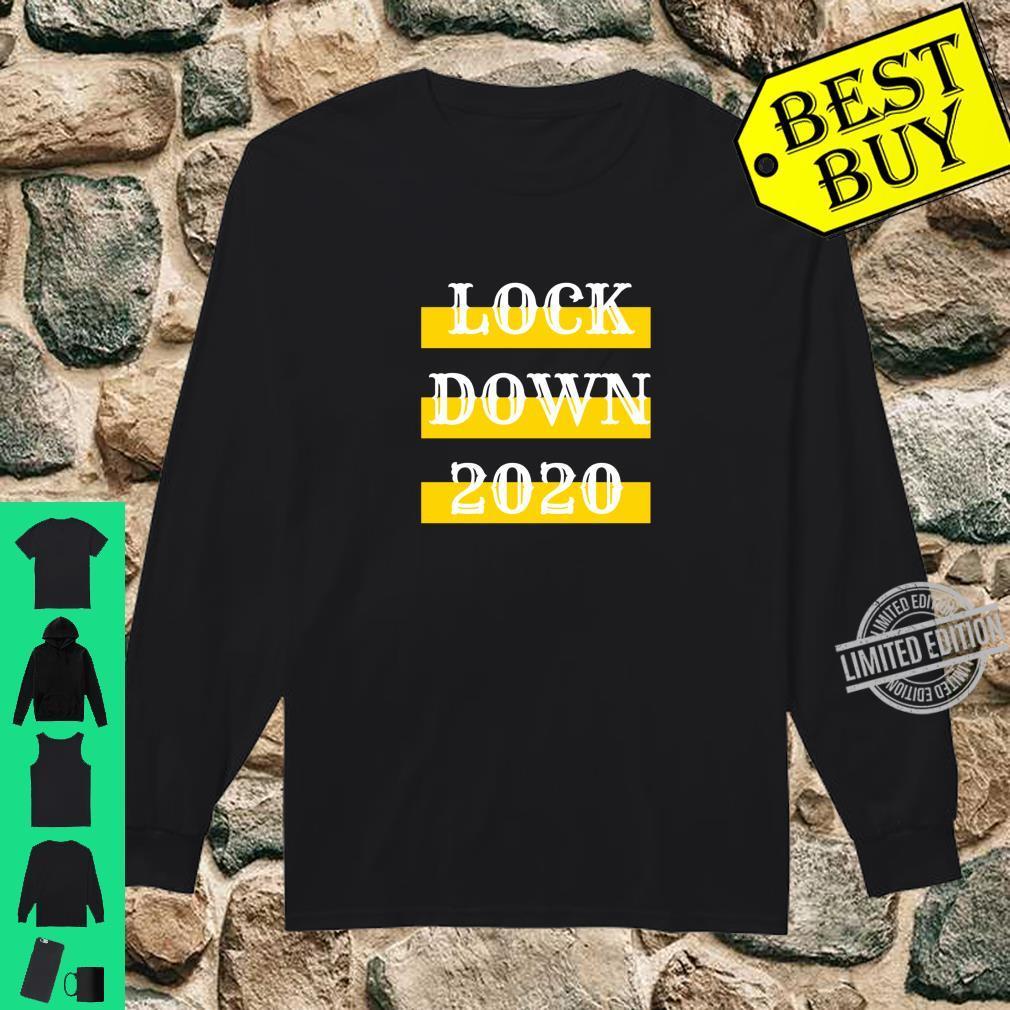 Lock Down 2020 Bestes QuarantäneLockdown Geschenk Shirt long sleeved