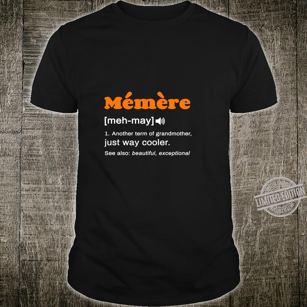 Lustige memere definition Französisch Großmutter Langarmshirt Shirt