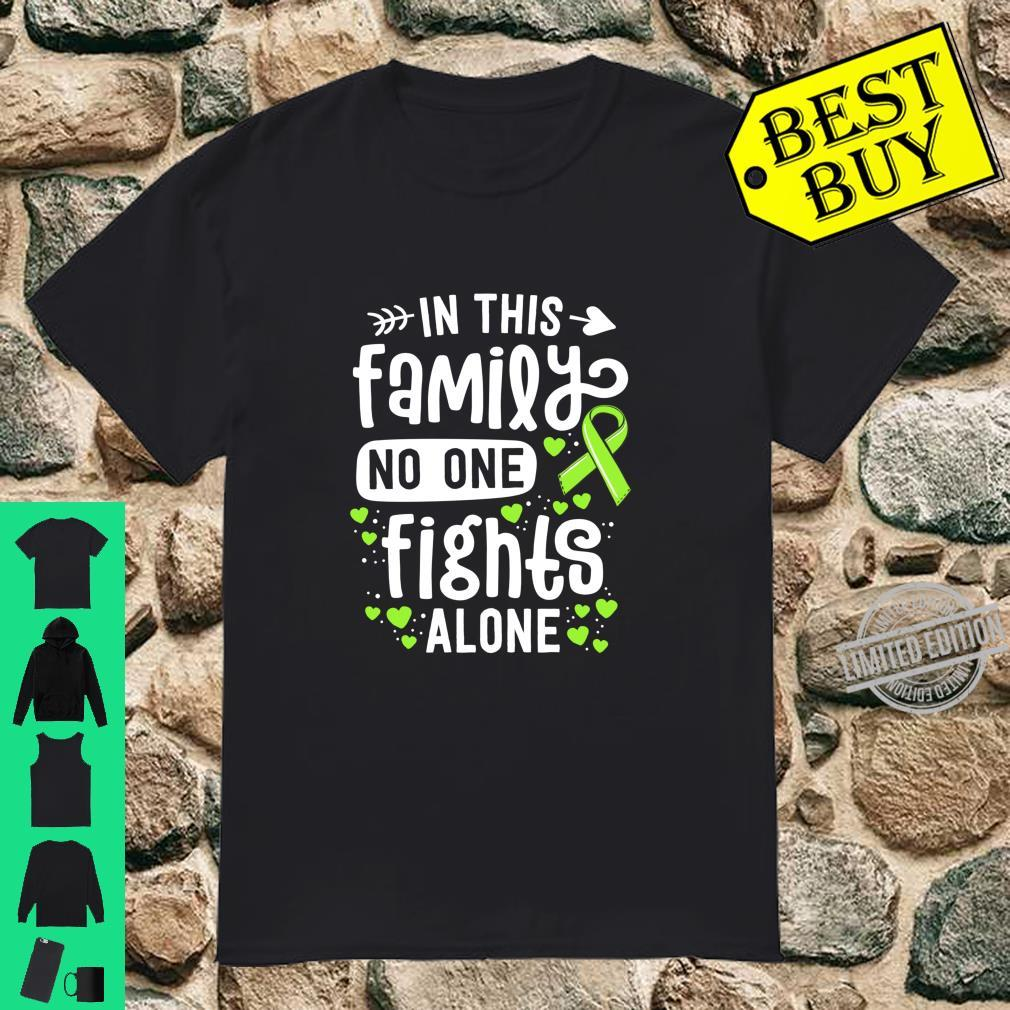 Lyme Disease Awareness In This Family Nobody Fights Alone Langarmshirt Shirt