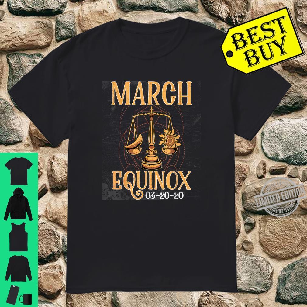 March 20th Equinox 2020 Shirt Scale Stem Sun Earth Gunge Shirt