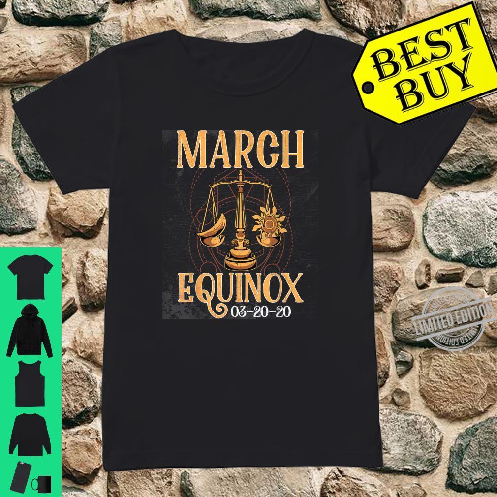 March 20th Equinox 2020 Shirt Scale Stem Sun Earth Gunge Shirt ladies tee