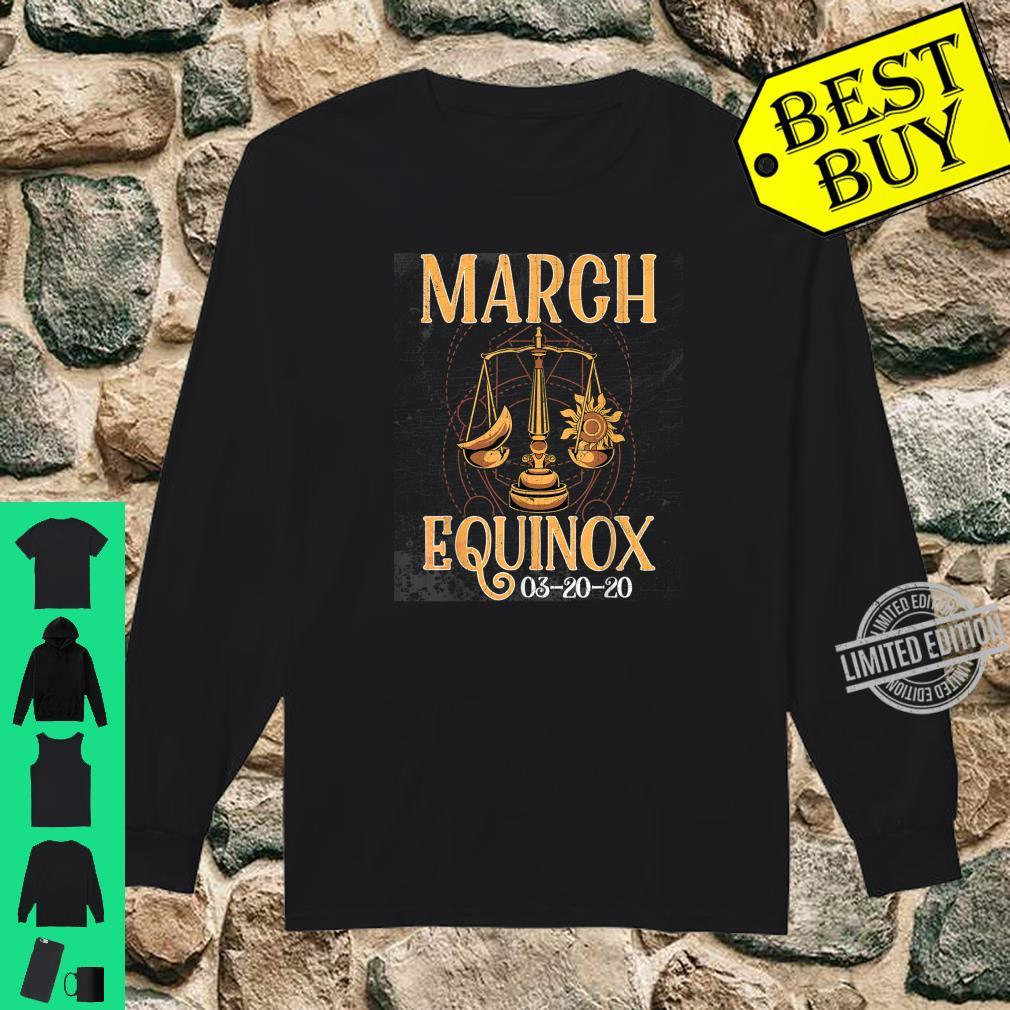 March 20th Equinox 2020 Shirt Scale Stem Sun Earth Gunge Shirt long sleeved
