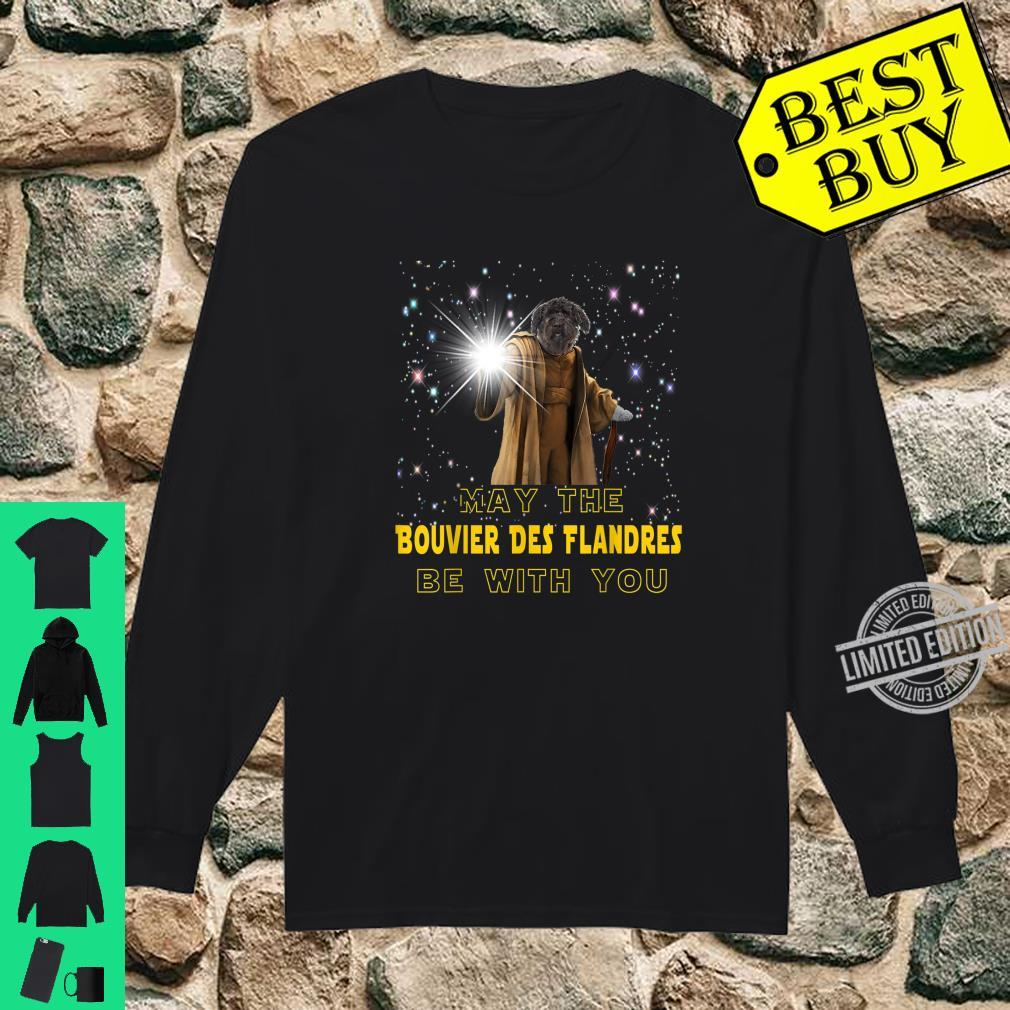 May The Bouvier Des Flandres Be With You For Dog Shirt long sleeved