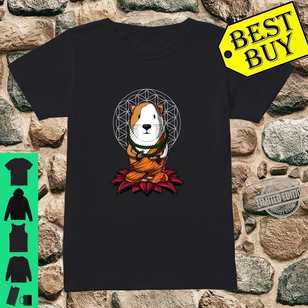 Meerschweinchen Buddha Zen Yoga Meditation Komisches Langarmshirt Shirt ladies tee