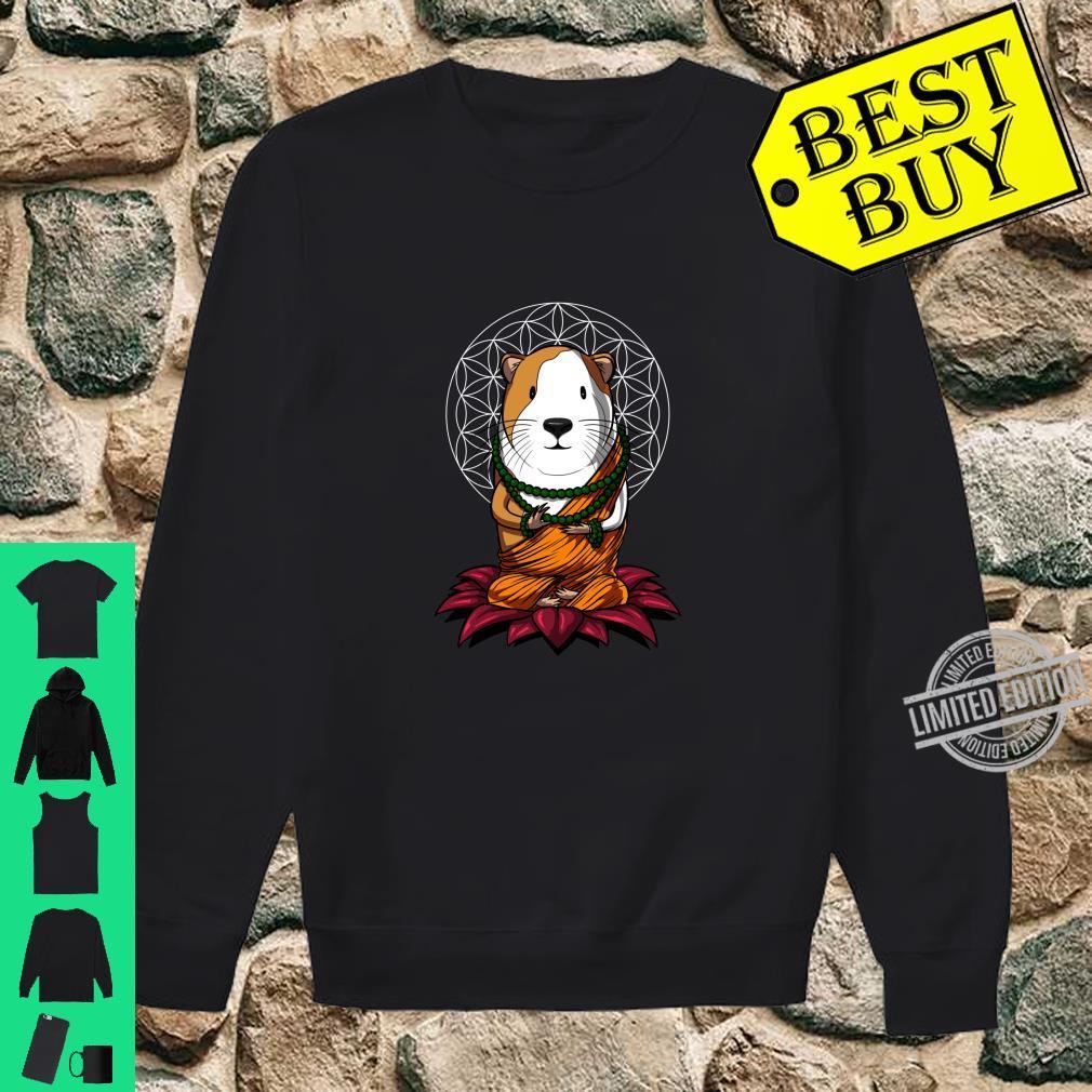 Meerschweinchen Buddha Zen Yoga Meditation Komisches Langarmshirt Shirt sweater