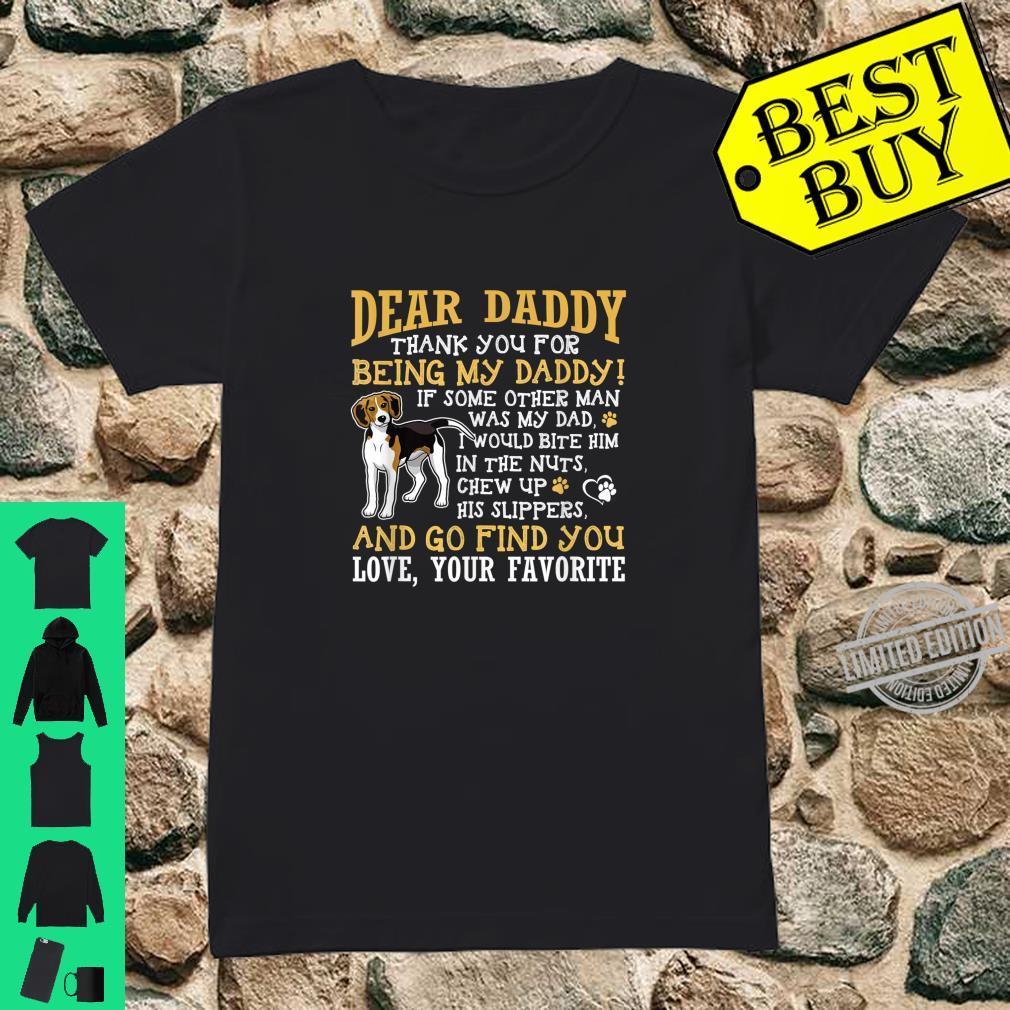 Mens BlackBeagle Dad Dear Daddy Thank You Shirt ladies tee