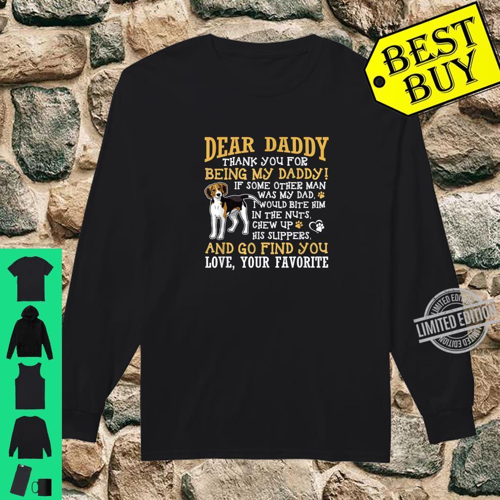 Mens BlackBeagle Dad Dear Daddy Thank You Shirt long sleeved