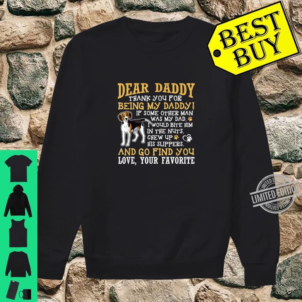 Mens BlackBeagle Dad Dear Daddy Thank You Shirt sweater