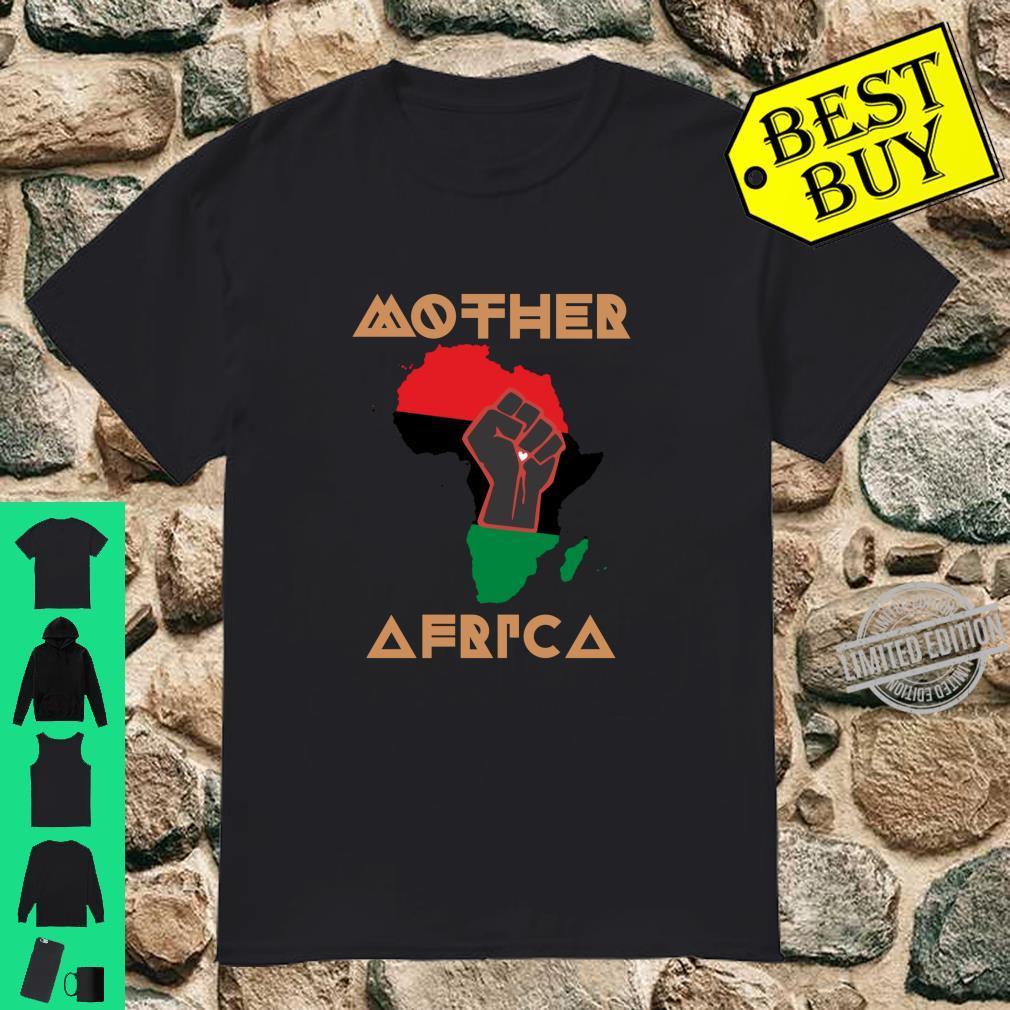 MutterAfrikaSchwarzGeschichtsmonatsStolz Art African Map Langarmshirt Shirt