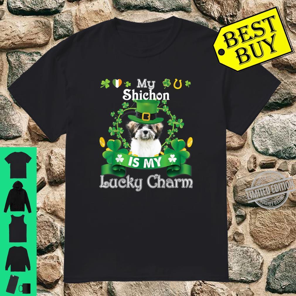 My Shichon Dog Is Lucky Charm Leprechaun St Patrick Day Shirt