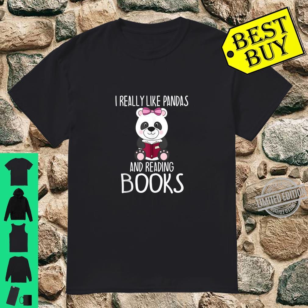 Official Panda Reading Books Panda Shirt
