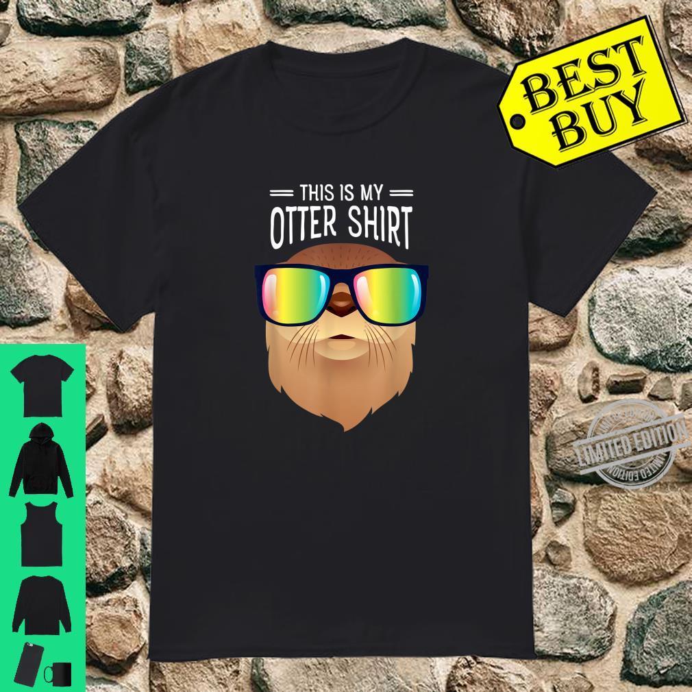 Otter With Rainbow Sunglasses Cool Slogan Shirt