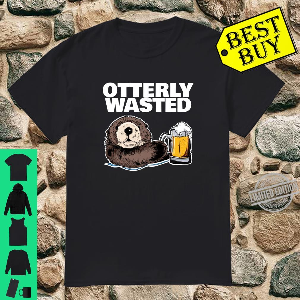 Otterly Wasted Otter Drinking Shirt