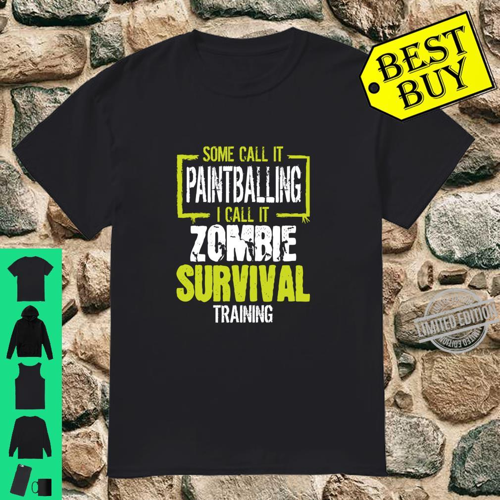 Paintball Zombie Survival Training Paintballing Shirt