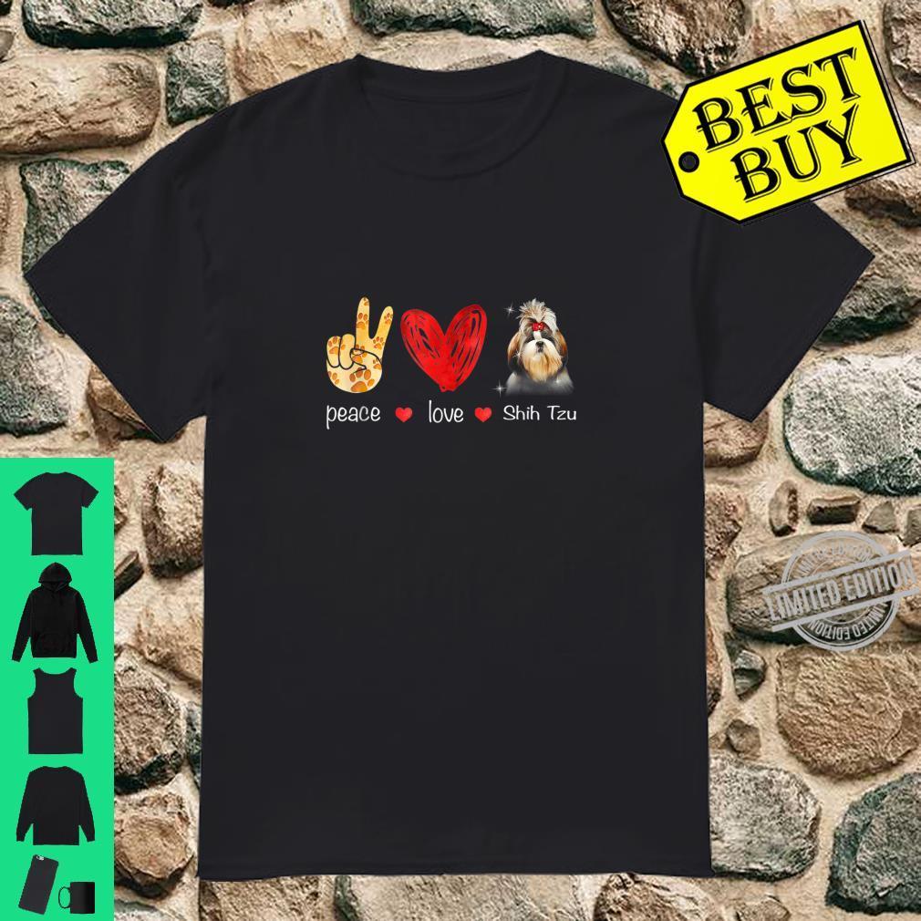 Peace Love Shih Tzu Dog Shih Tzu Dog Shirt