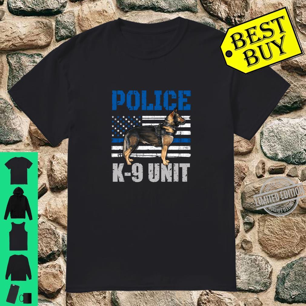 Police K9 Unit Shirt Thin Blue Line Officer Dog Costume Shirt