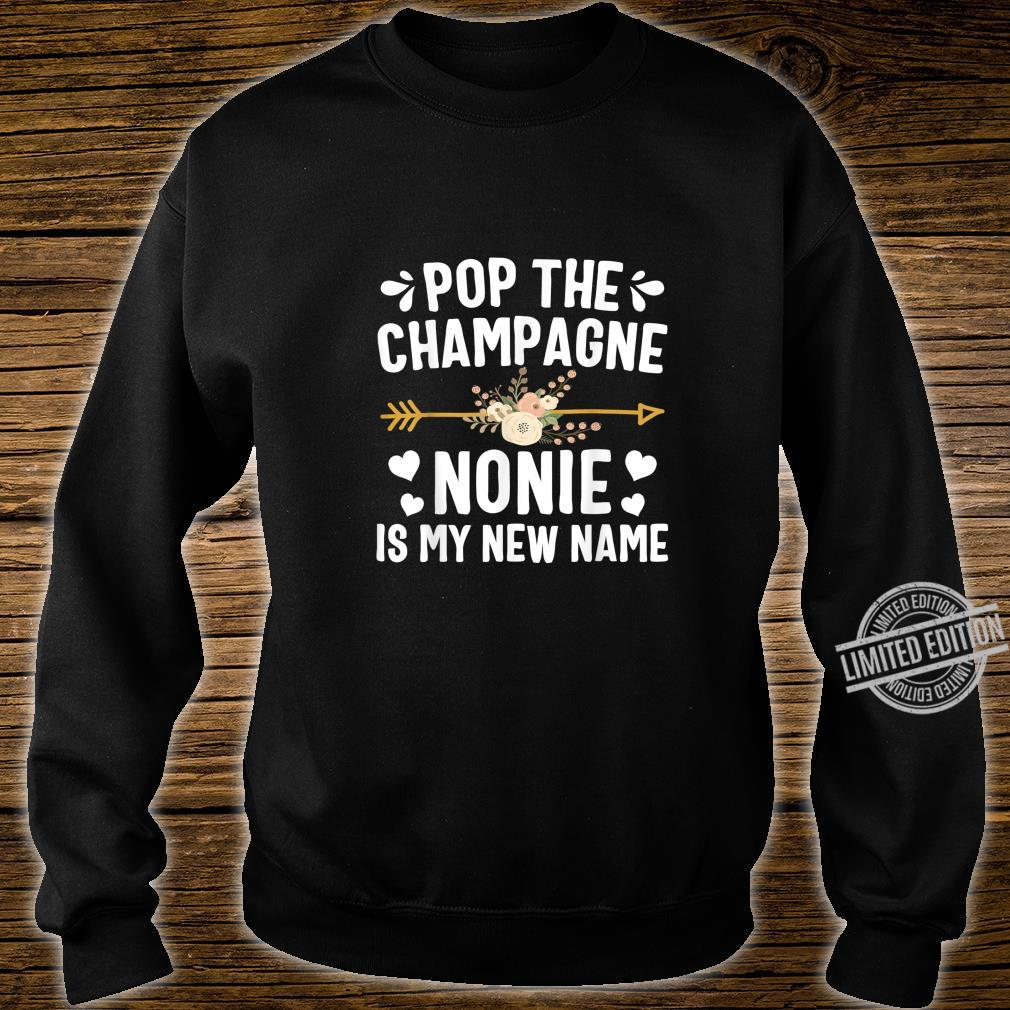 Pop The Champagne Nonie Is My New Name Shirt Thanksgiving Shirt sweater