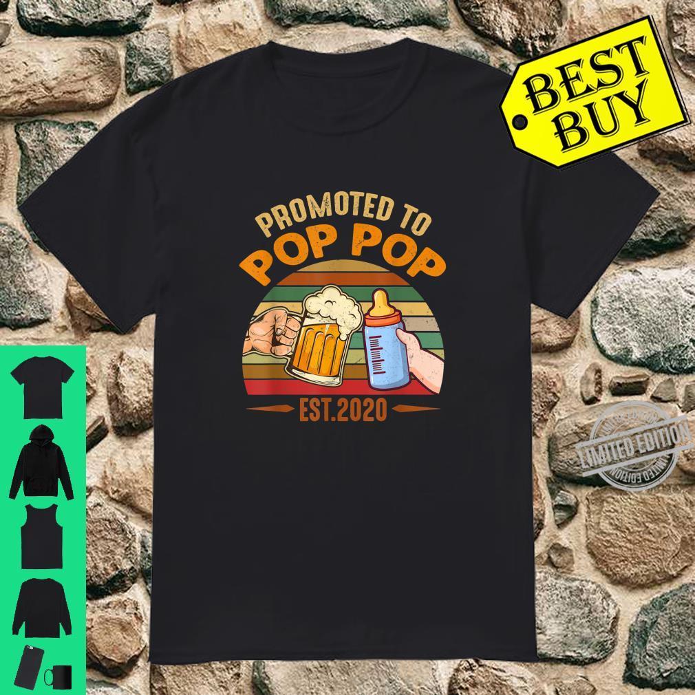 Promoted to Pop Pop est 2020 Vintage Arrow Shirt