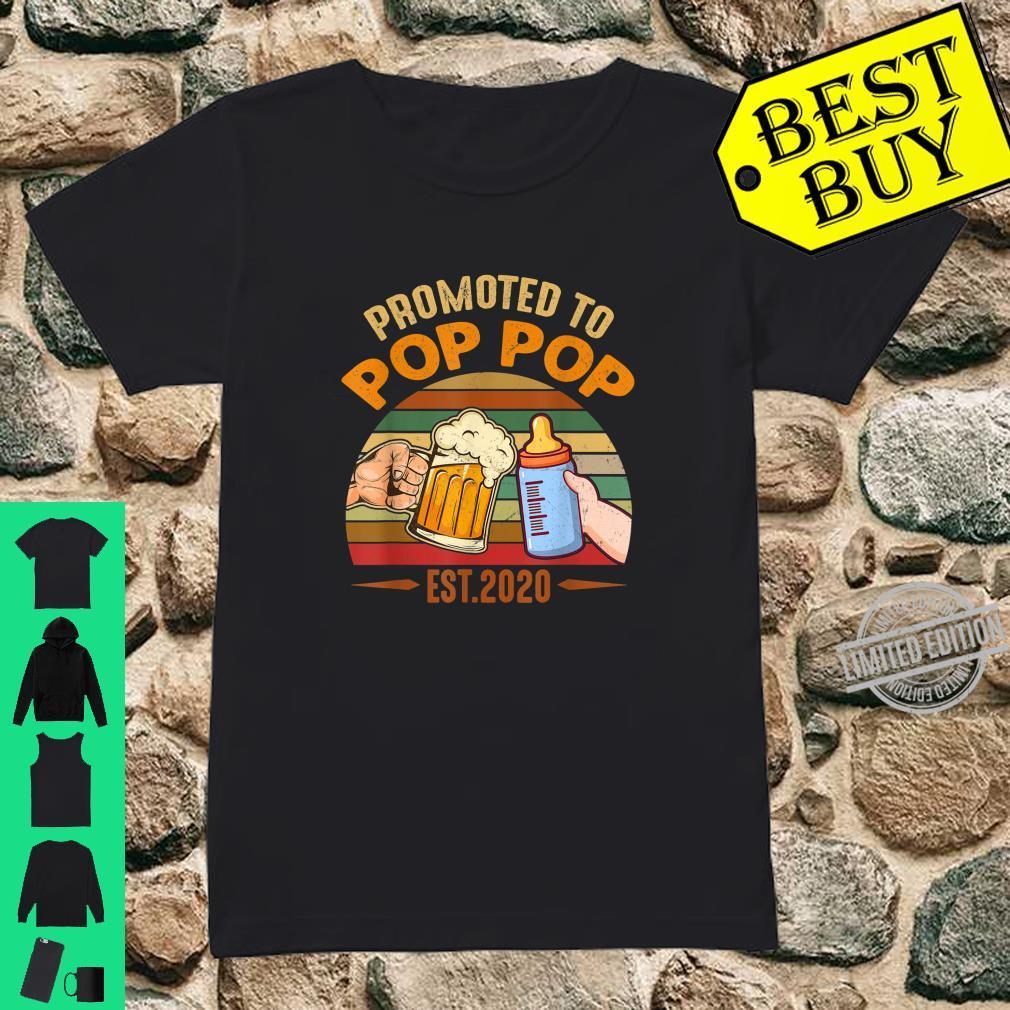 Promoted to Pop Pop est 2020 Vintage Arrow Shirt ladies tee