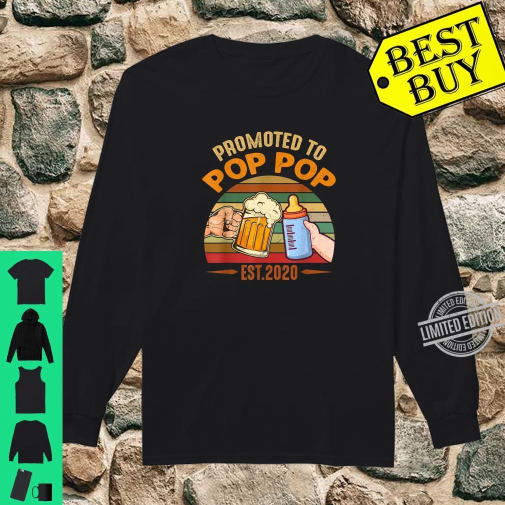 Promoted to Pop Pop est 2020 Vintage Arrow Shirt long sleeved