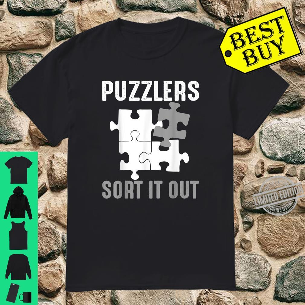 Puzzlers Sort It Out Cute Jigsaw Puzzle Shirt