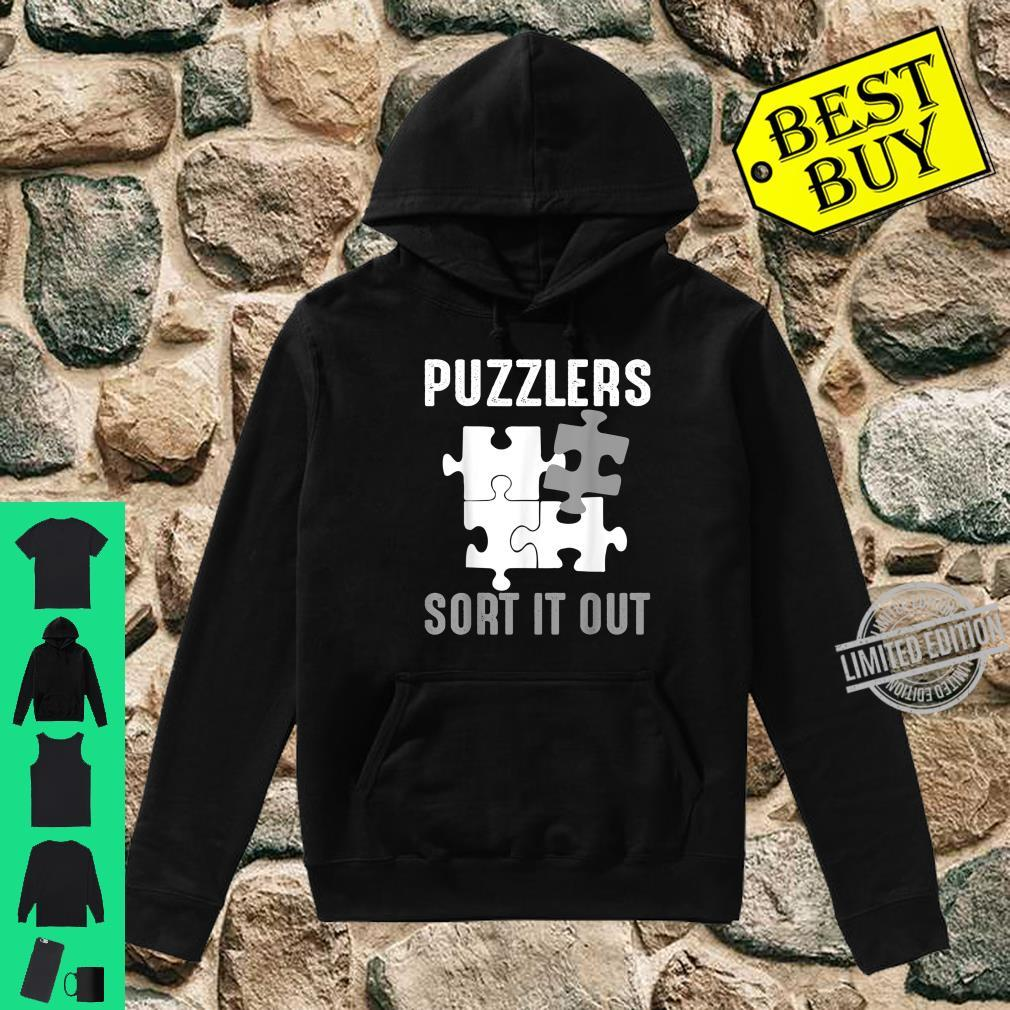 Puzzlers Sort It Out Cute Jigsaw Puzzle Shirt hoodie