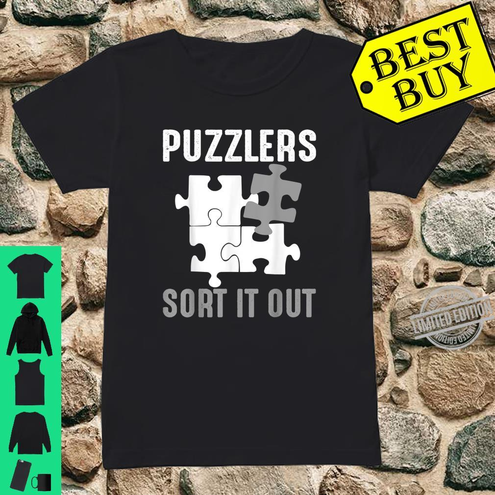 Puzzlers Sort It Out Cute Jigsaw Puzzle Shirt ladies tee