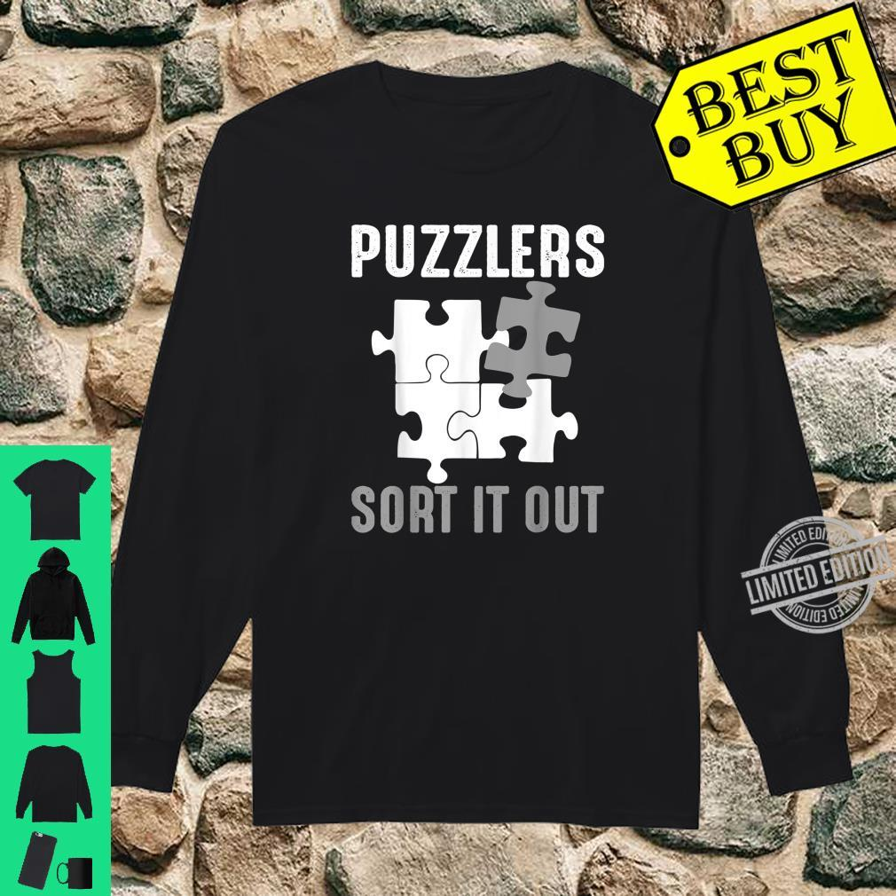 Puzzlers Sort It Out Cute Jigsaw Puzzle Shirt long sleeved