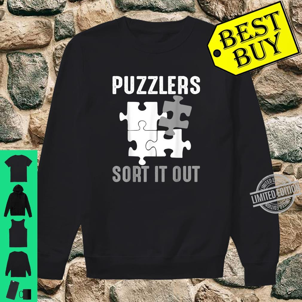 Puzzlers Sort It Out Cute Jigsaw Puzzle Shirt sweater