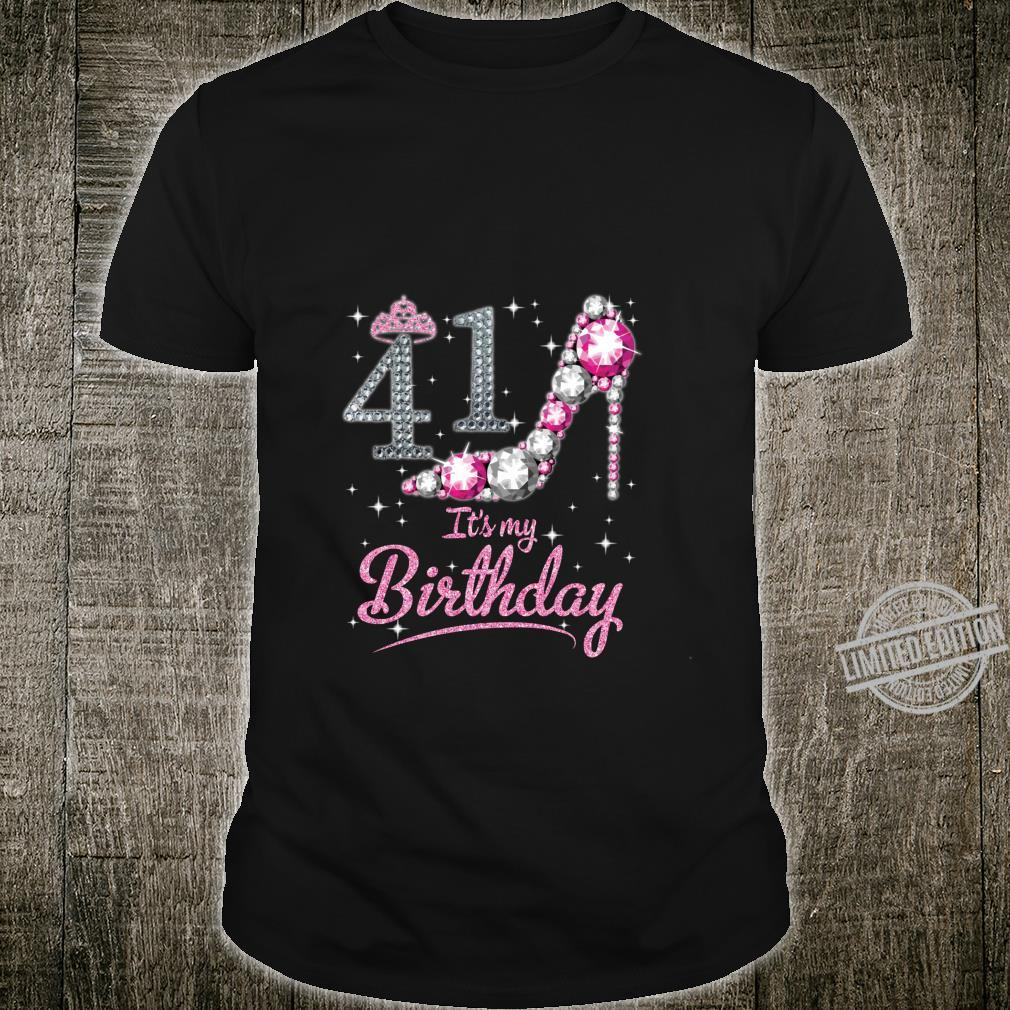 Queen 41 Years Old It's My Birthday Vintage Retro Girl Shirt
